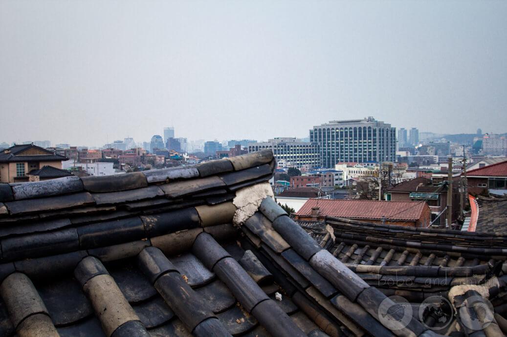 Bukchon Hanok Village Skyline