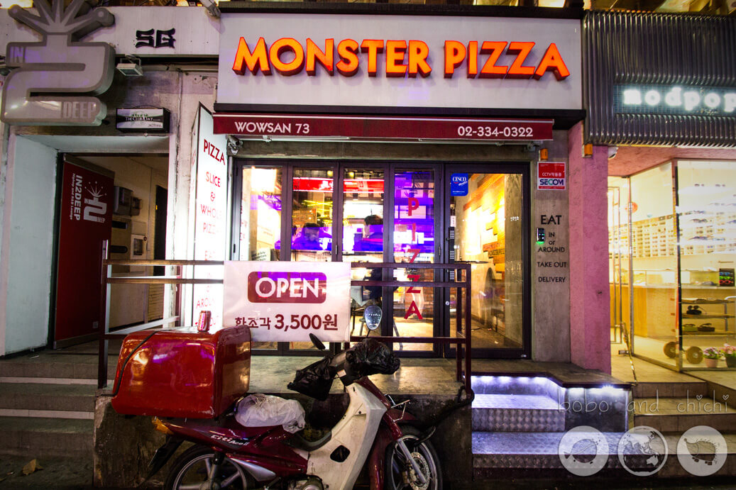 Monster Pizza in Hongdae Entrance