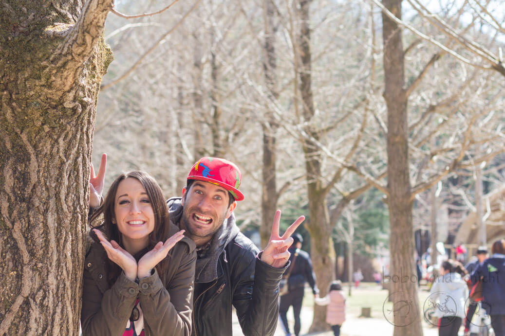 Nami Island Travel Selfies