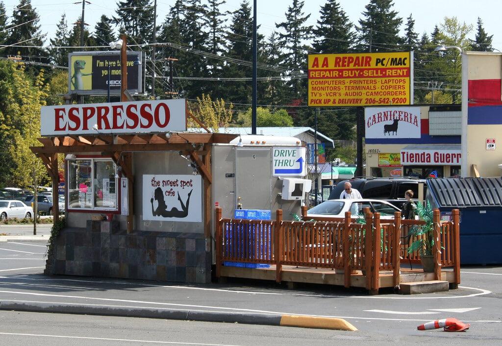 A bikini barista in Seattle Washington - The Sweet Spot Cafe