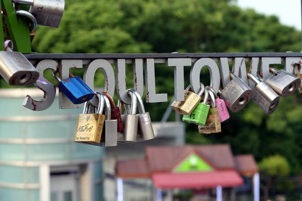 Seoul Tower Love Locks