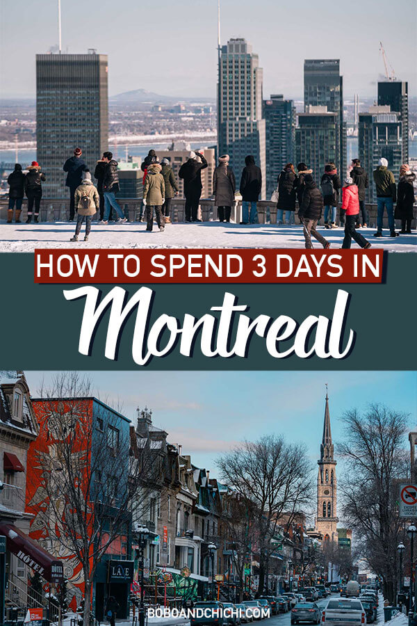 3 days in Montreal itinerary