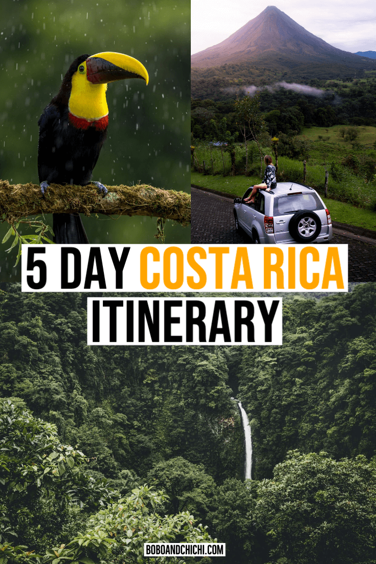 5 day costa rica itinerary