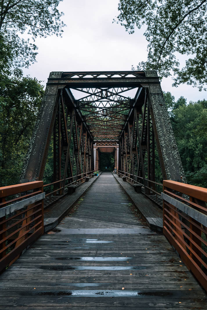 A Quiet Place Bridge along the Wakill Valley Rail Trail in New Paltz New York
