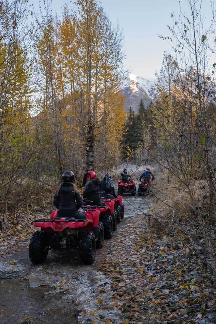 ATV riding in Bird Creek near Girdwood Alaska