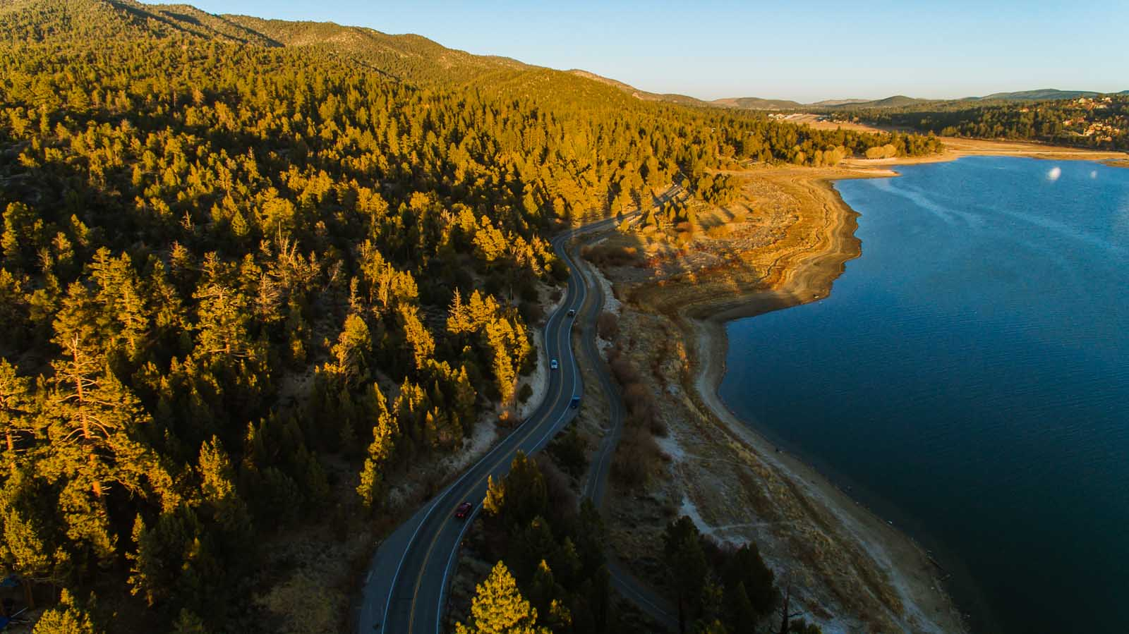 View of Big Bear Lake from Drone