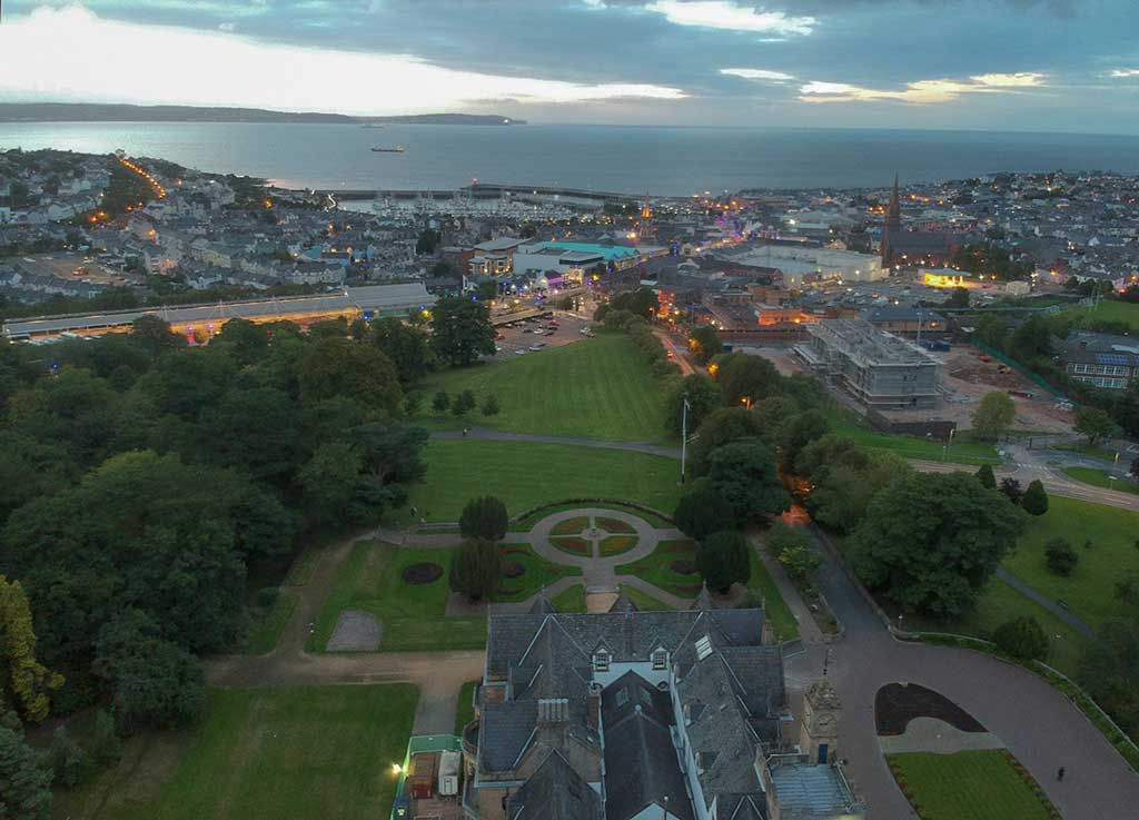 Aerial view of Bangor Northern Ireland