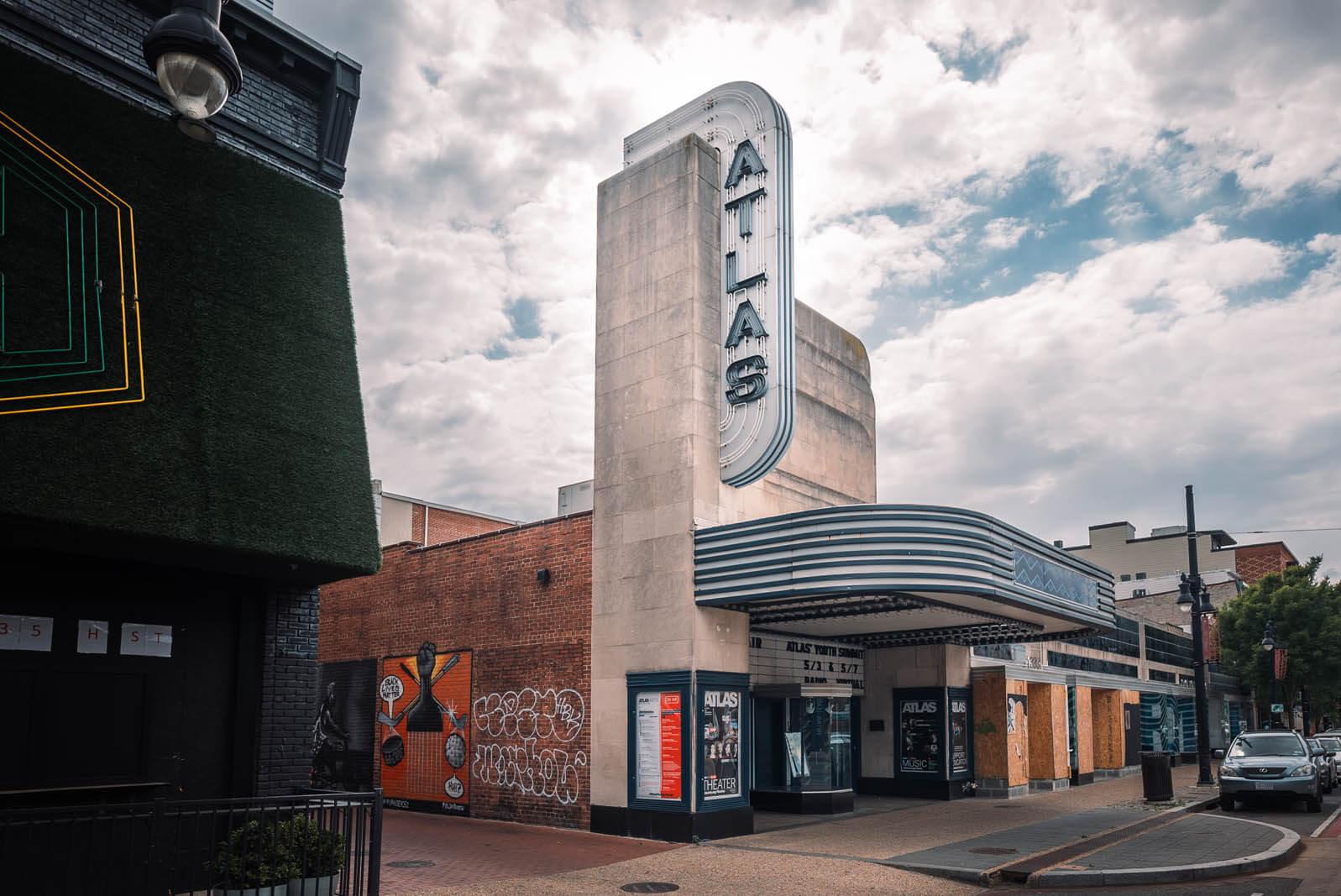 Atlas Theater in H Street Corridor in Washington DC