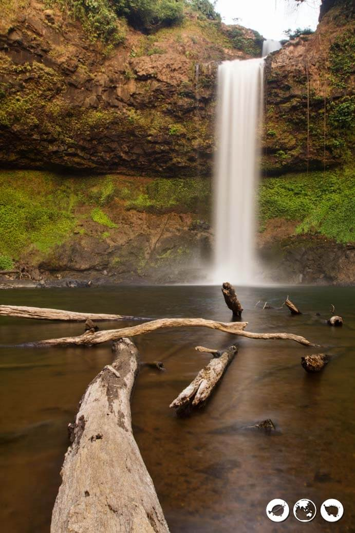 Tayicseua waterfalls in Bolaven Plateau