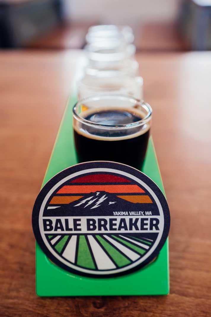 Bale Breaker Brewing tasting flight