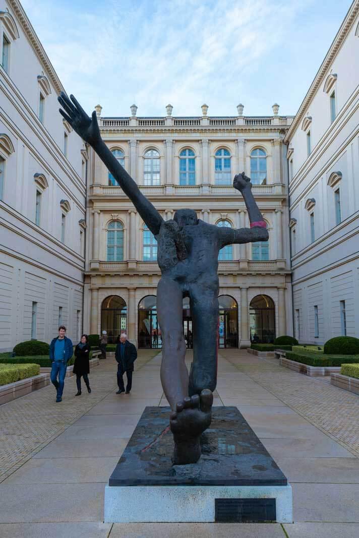 Art Museum Barberini in Potsdam exterior sculpture