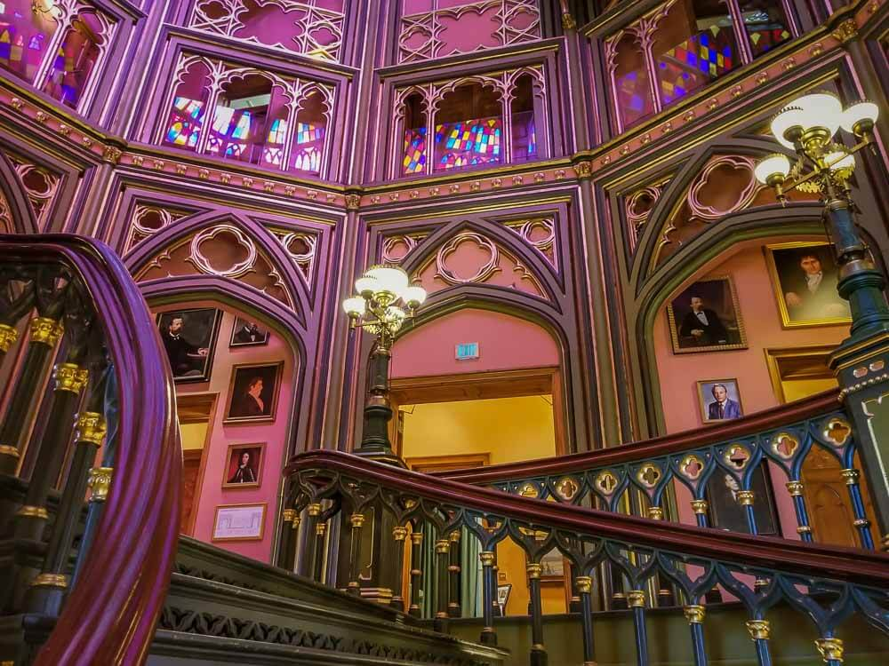 Inside gothic castle at Baton Rouge Louisiana by Brianna of Casual Travelist for Best Day Trips form New Orleans