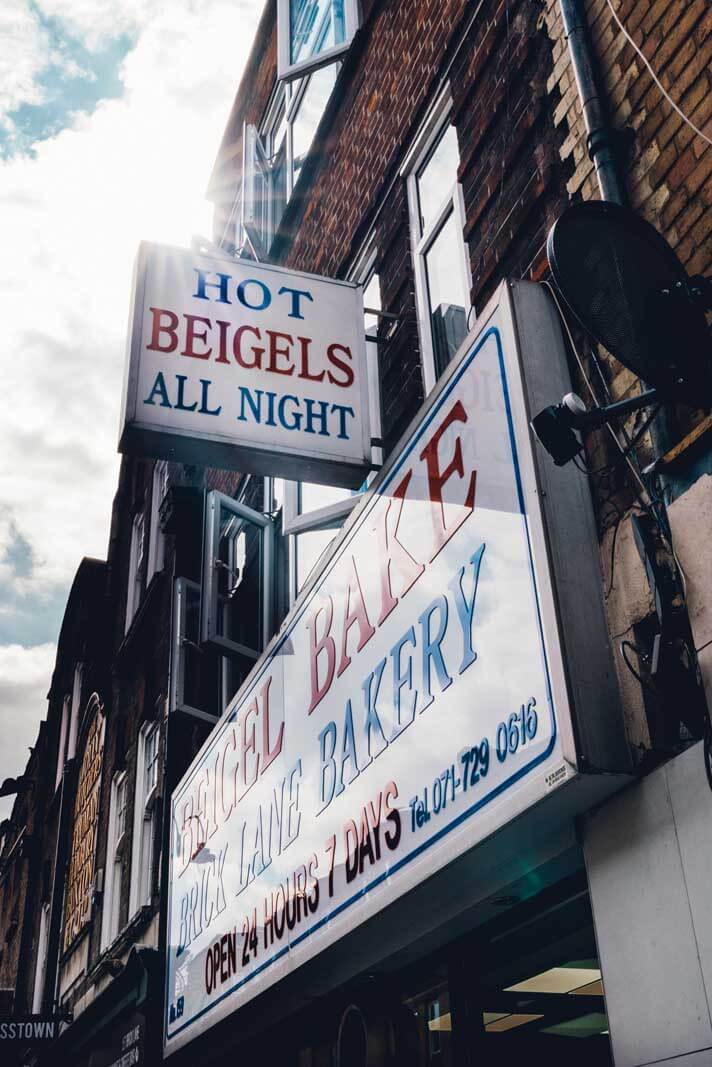 Beigel Bake on Brick Lane in London