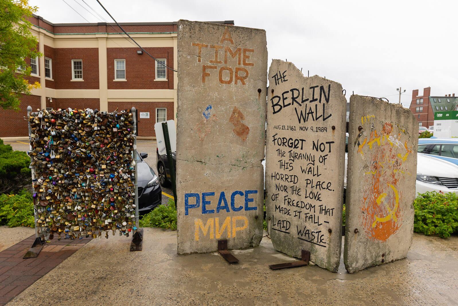 Berlin Wall segments in Portland Maine