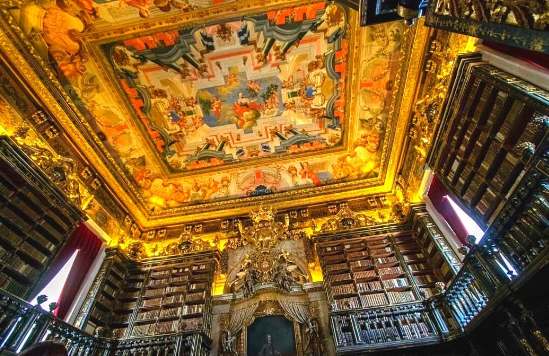 Biblioteca Joanina in Portugal one of the coolest libraries in the world