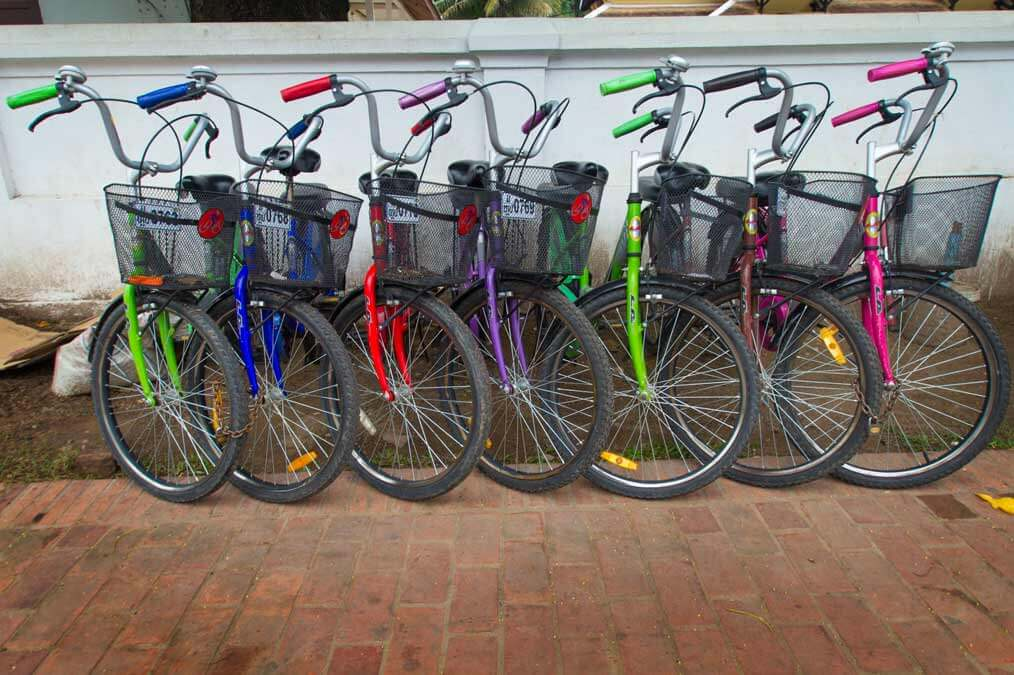 Bikes -- one of the best way to see Luang Prabang, Laos