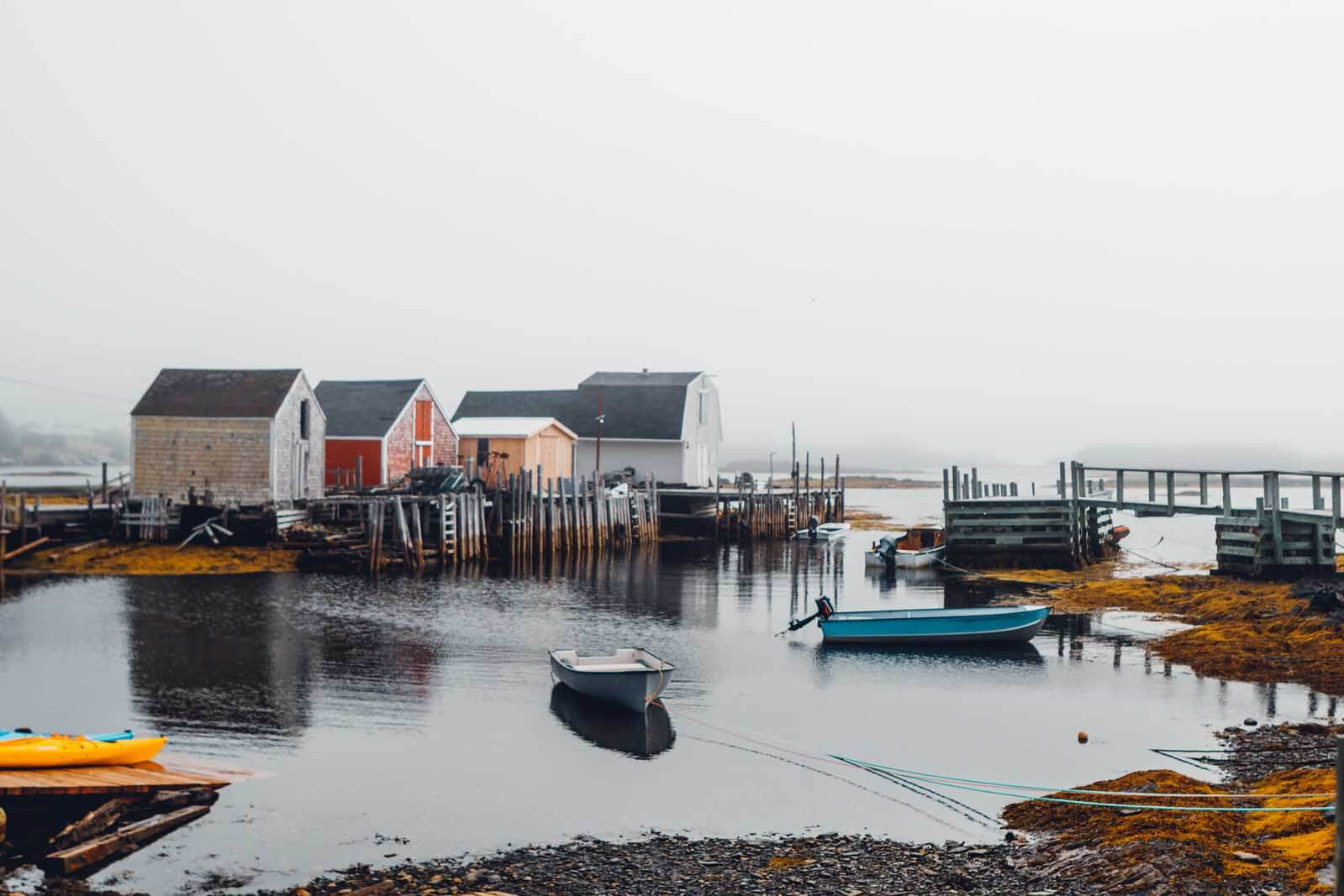 Blue Rocks Fishing Village in Nova Scotia