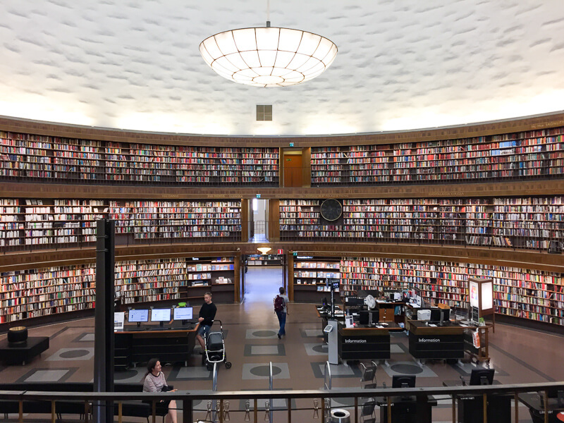 Book Hall Stockholm Library