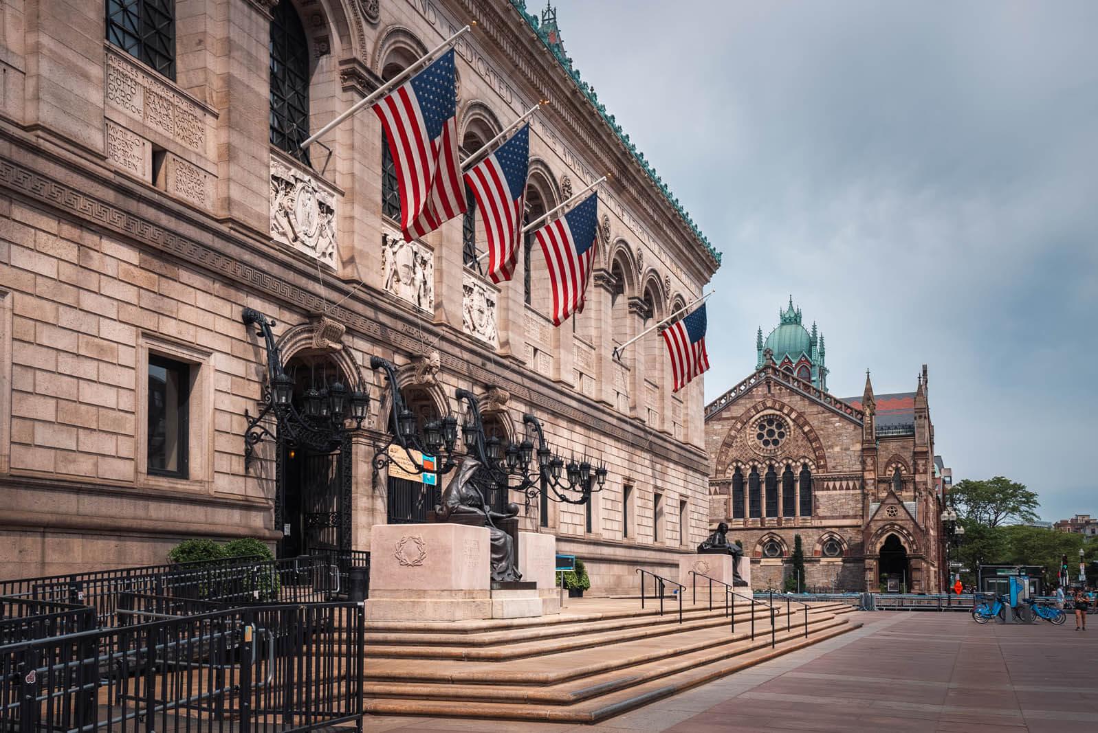 Boston Public Library in Copley Square