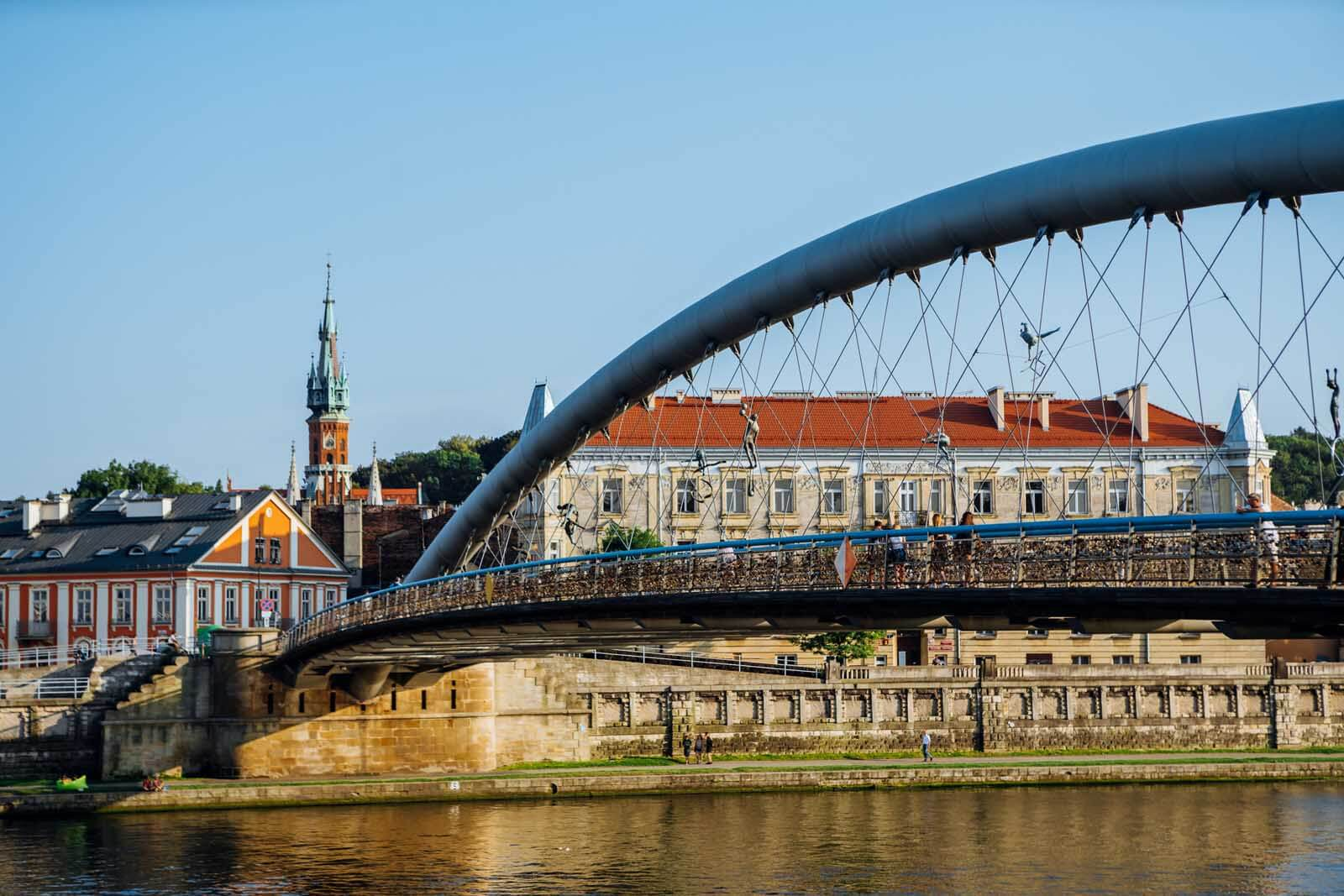 St. Joseph in Podgórze and bridge in Krakow