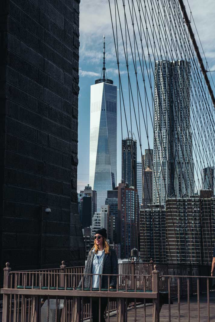 Megan on the Brooklyn Bridge