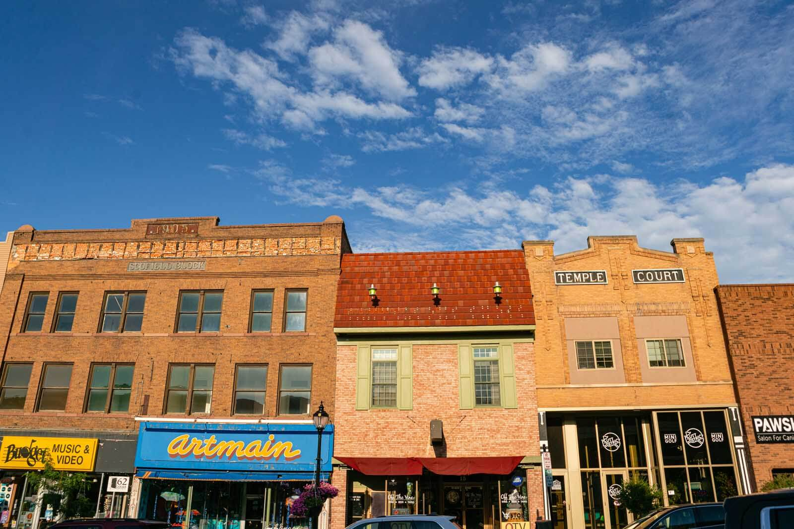 Buildings in downtown Minot North Dakota