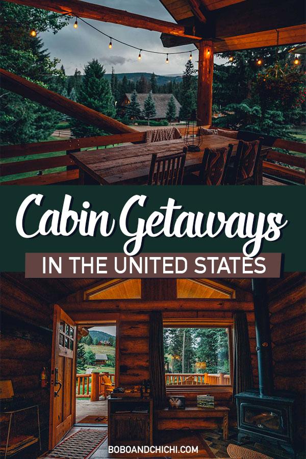 romantic cabin getaways in the US