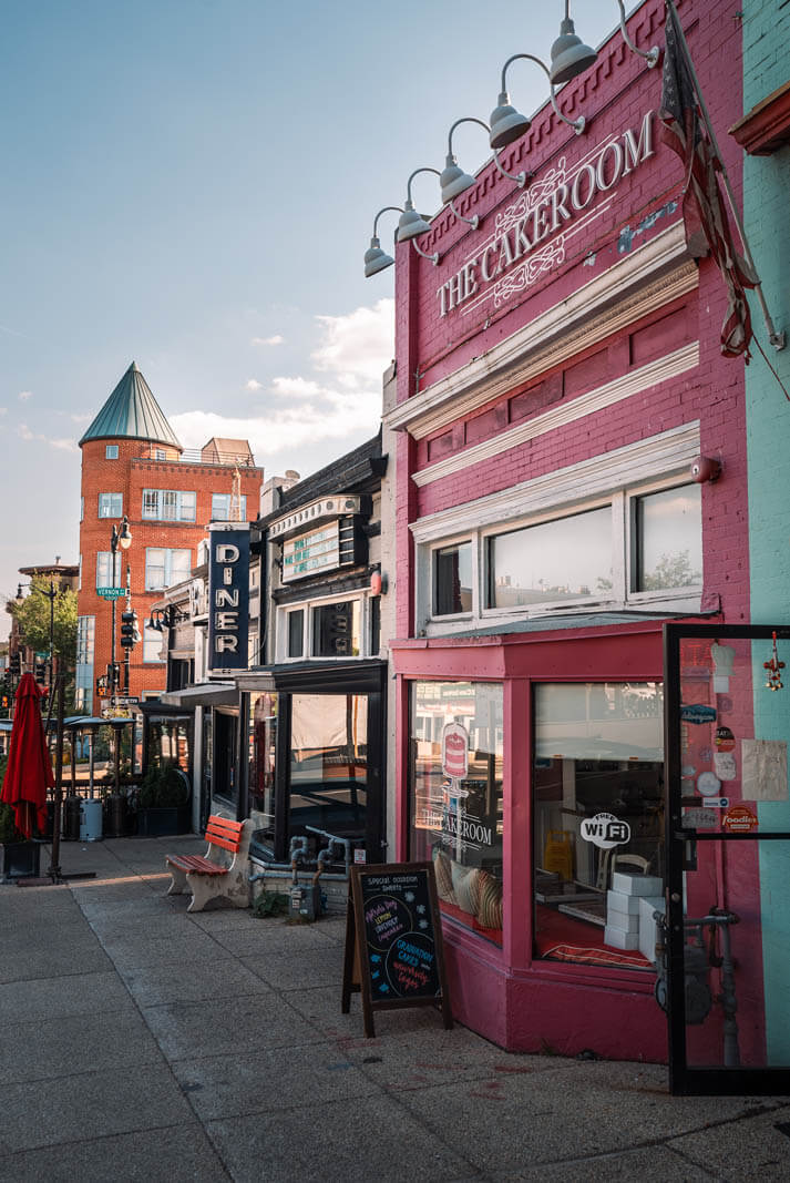 Cake Room and Duplex Diner on the edge of Adams Morgan and Dupont Circle neighborhoods in Washington DC