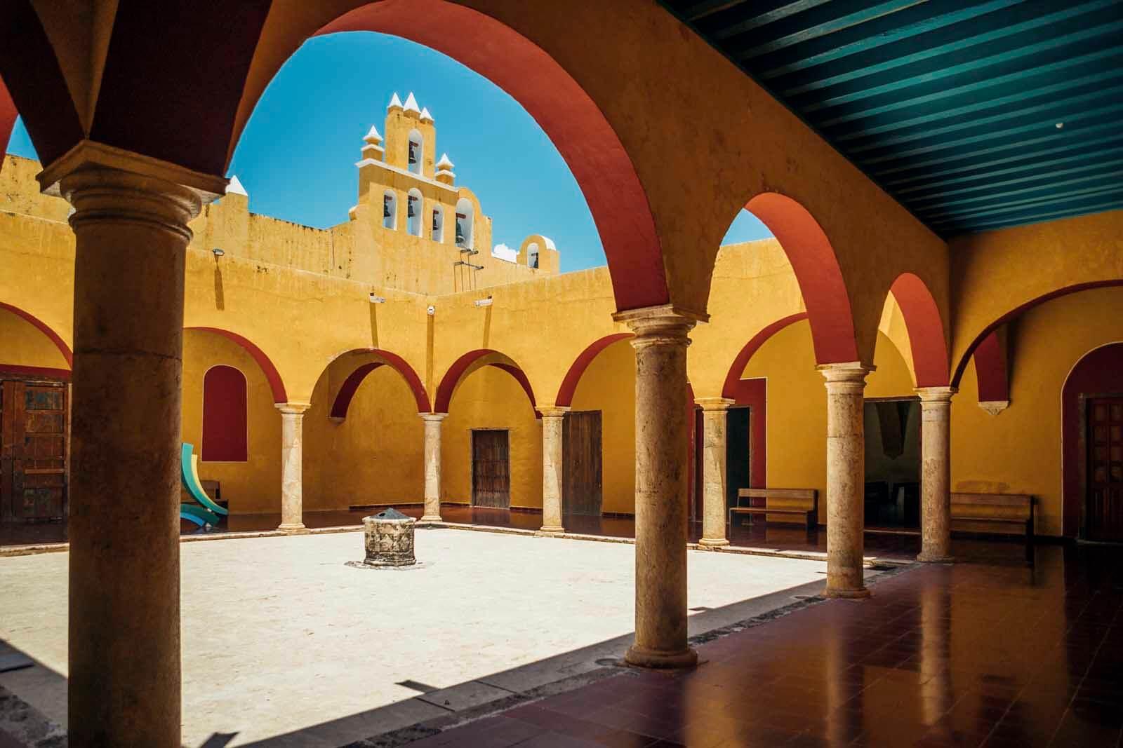 Beautiful interior of building in Campeche Mexico