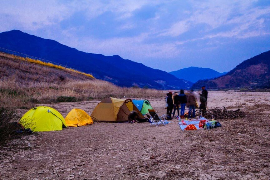 Guerilla Camping in Korea