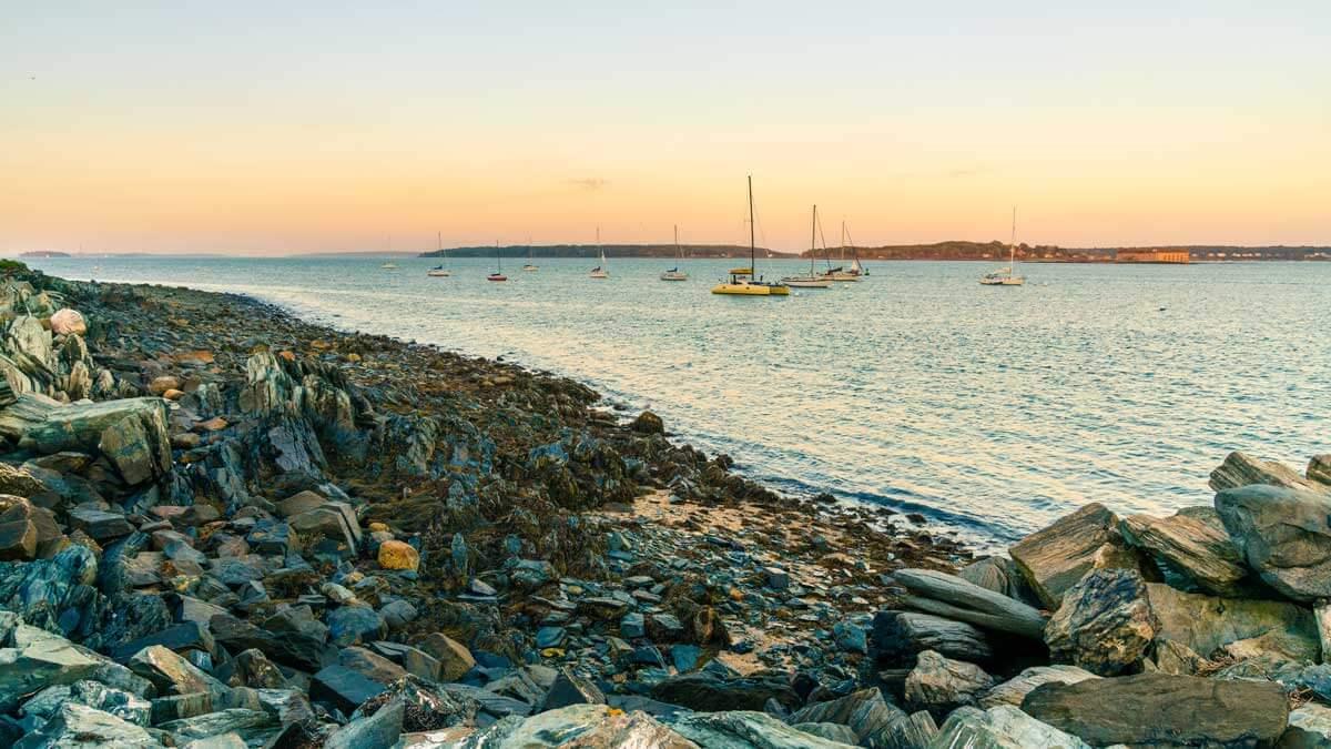 Casco-Bay-View-from-Eastern-Promenade-Trail-in-Portland-Maine