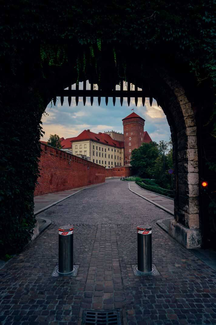 Castle View in Krakow Poland