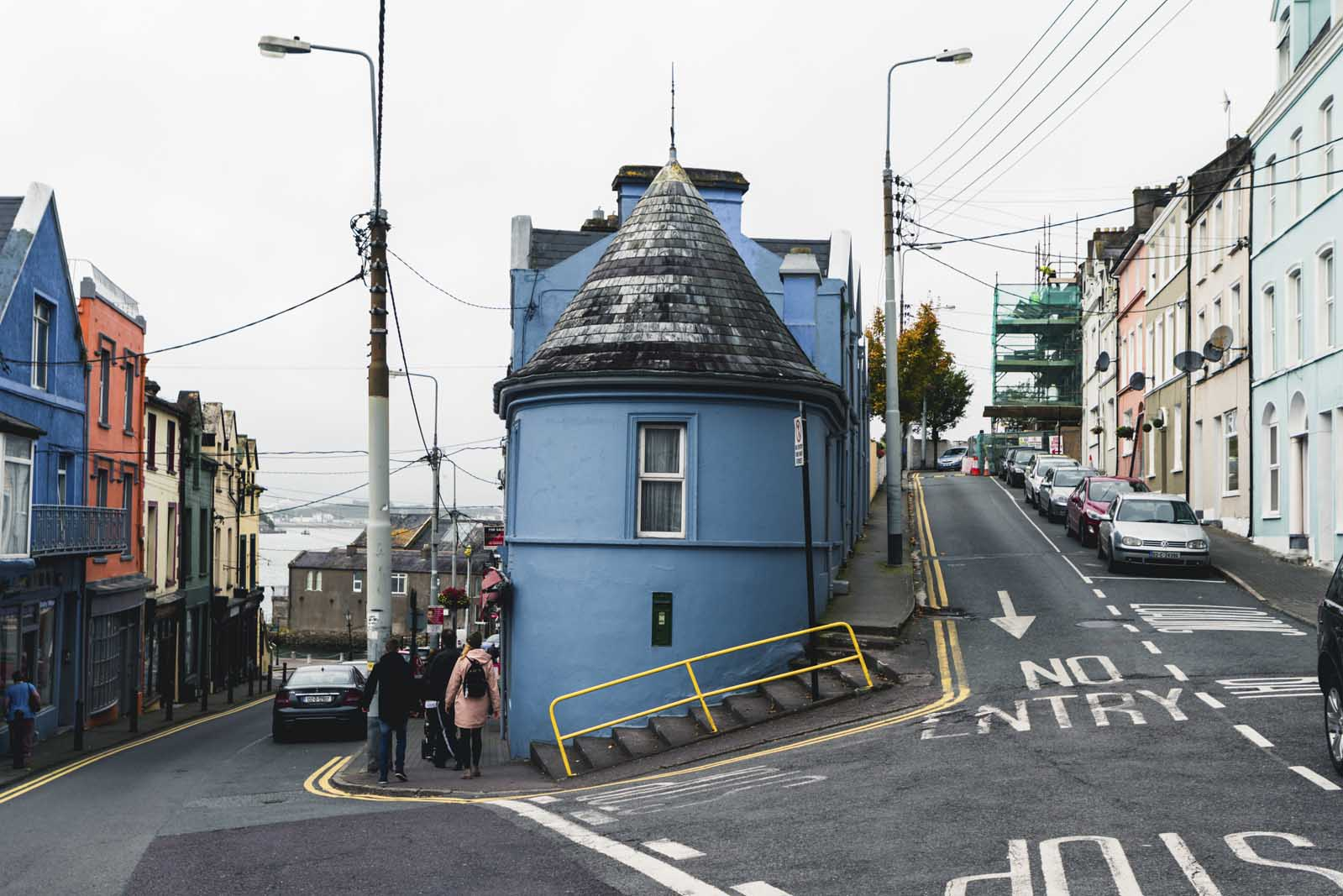 Pretty Blue building in Cobh Ireland
