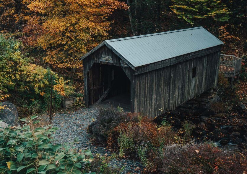 Copeland Covered Bridge in the Adirondacks in Upstate New York