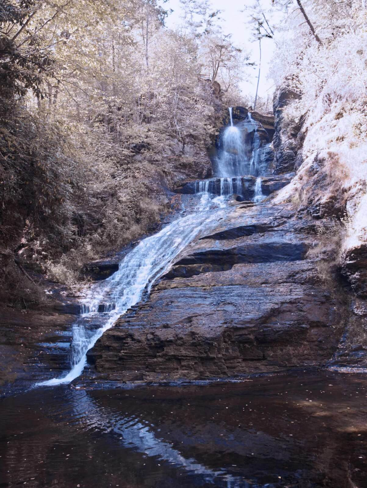 Dingmann_waterfall in Pennsylvania near Milford and Delaware Water Gap