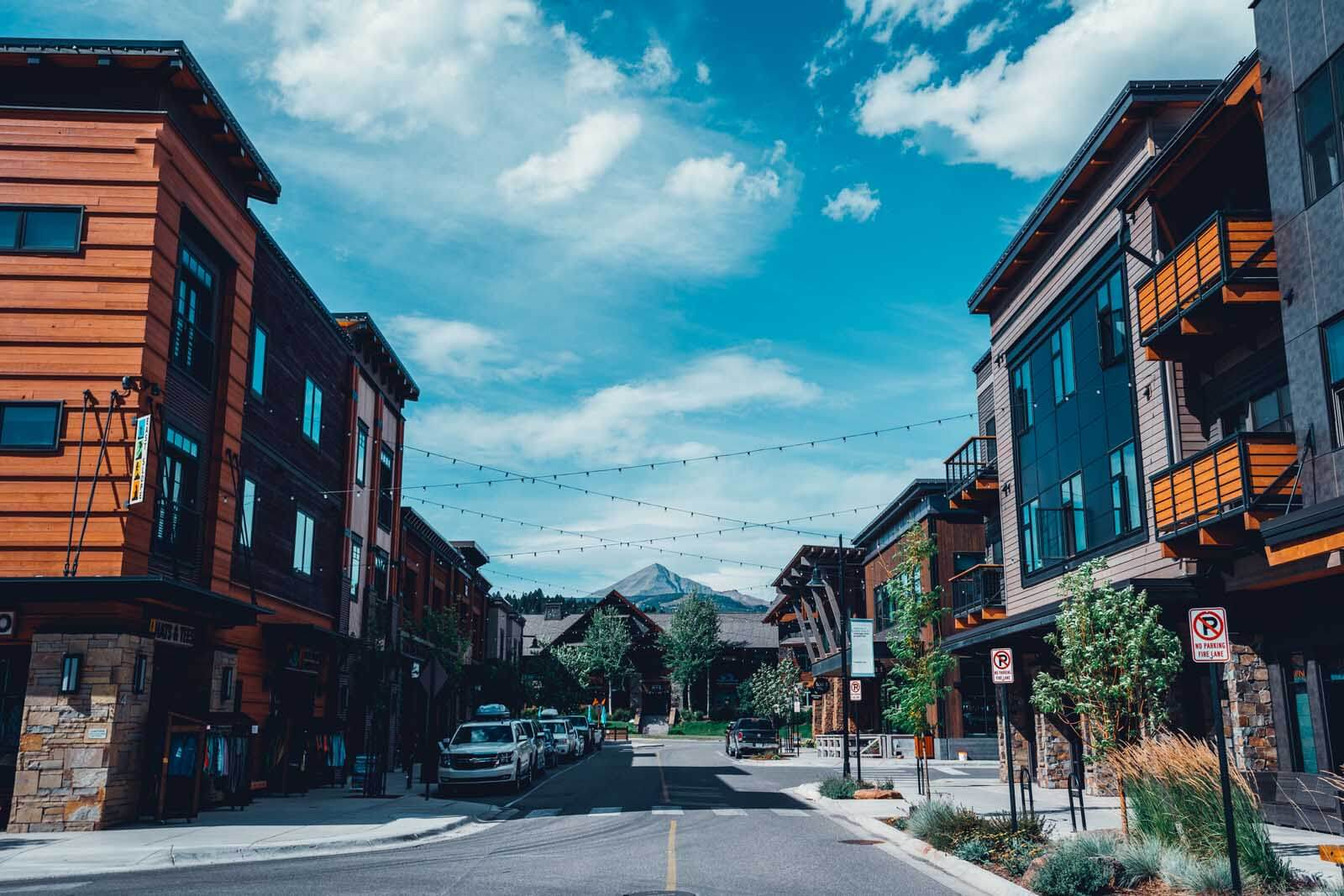 Downtown Big Sky in Montana