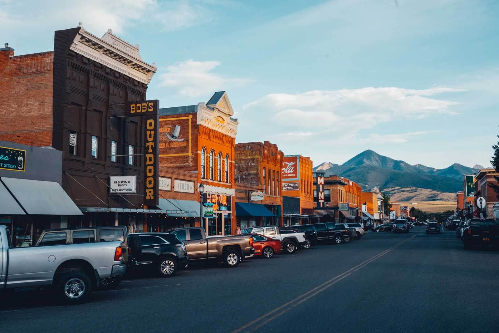 Downtown Livingston Montana the most colorful Old West Town