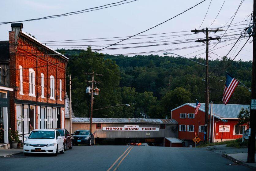 Downtown Narrowsburg New York in the Catskills
