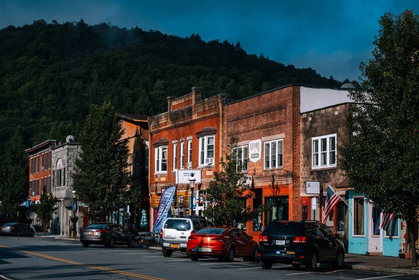 Downtown Roscoe New York in the Catskills