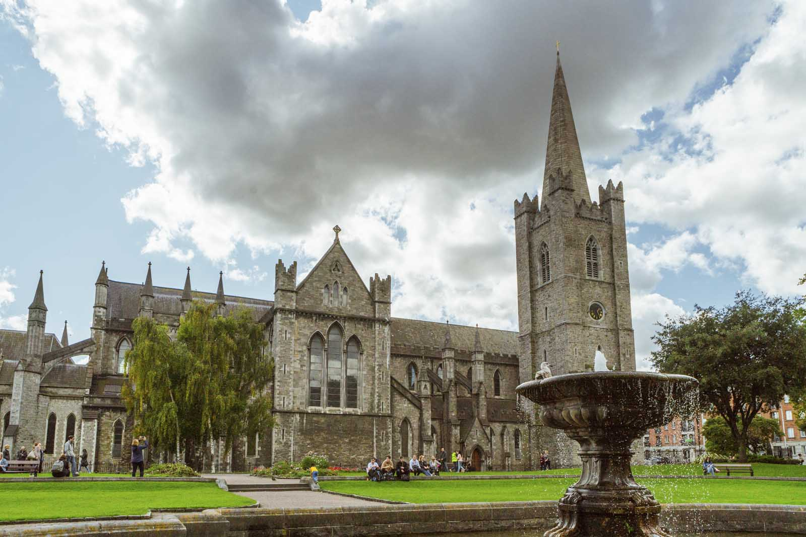Exterior-of-St.-Patrick's-Cathedral-Dublin-Ireland