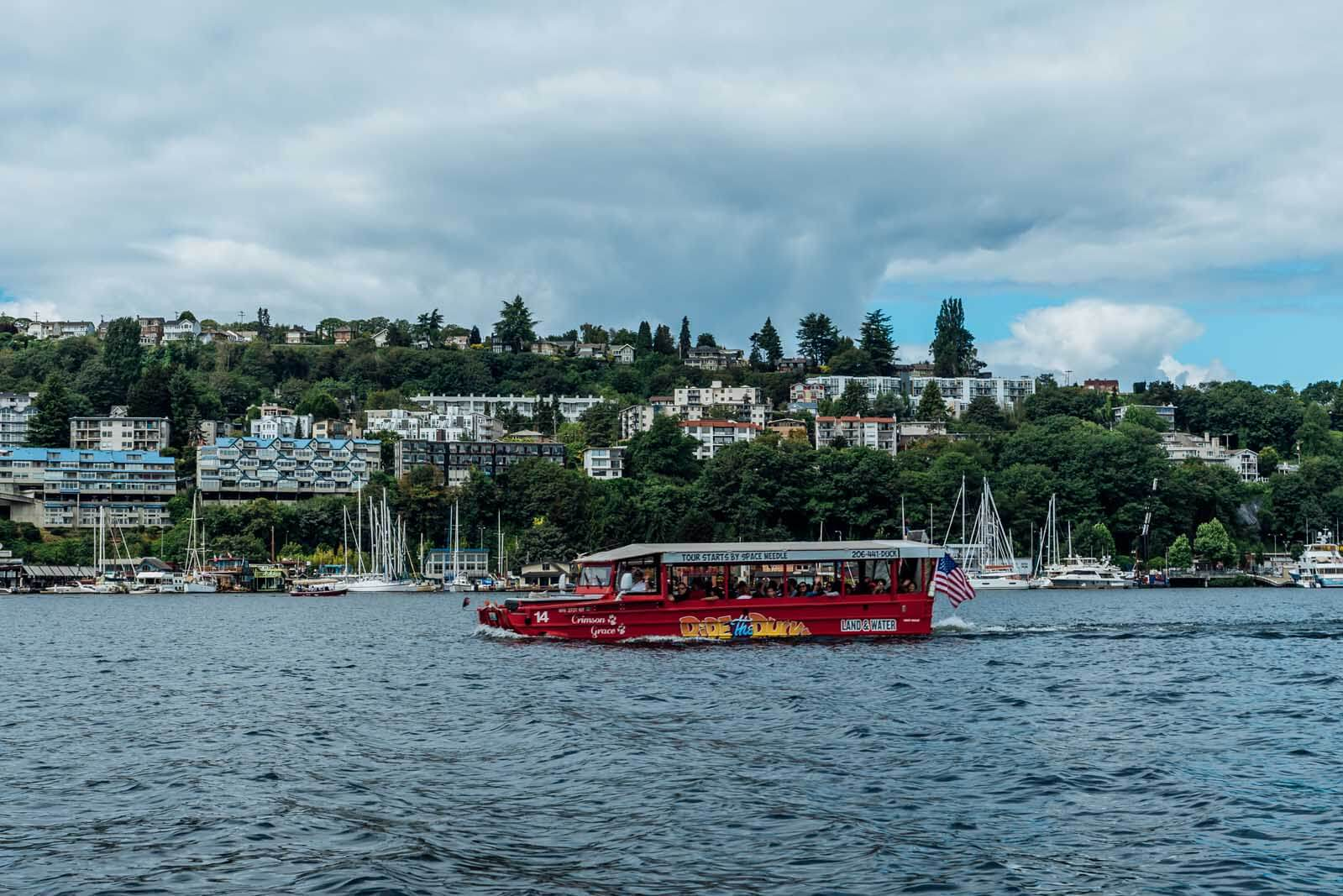 Duck Boat on Lake Union Seattle