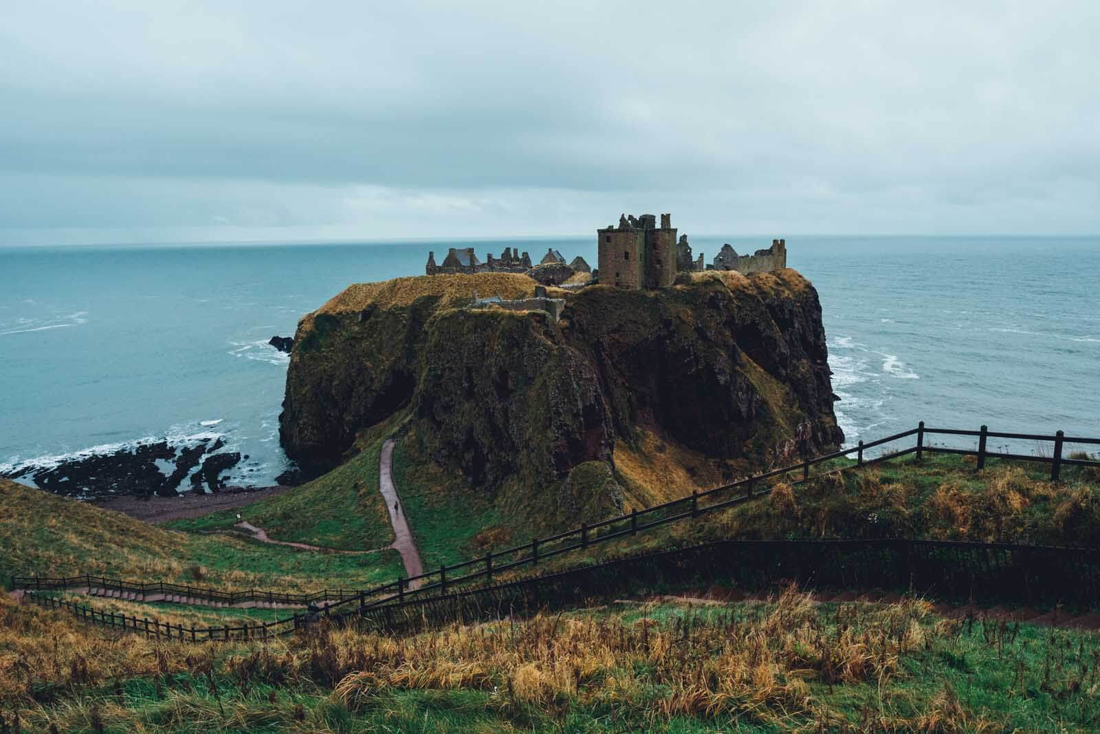 Dunnottar Castle in Stonehaven in Aberdeenshire