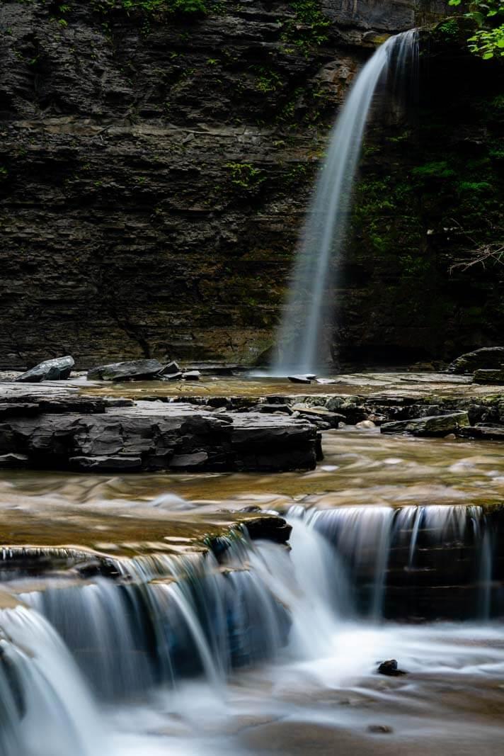 Eagle Cliff Falls at Havana Glen in the Finger Lakes New York
