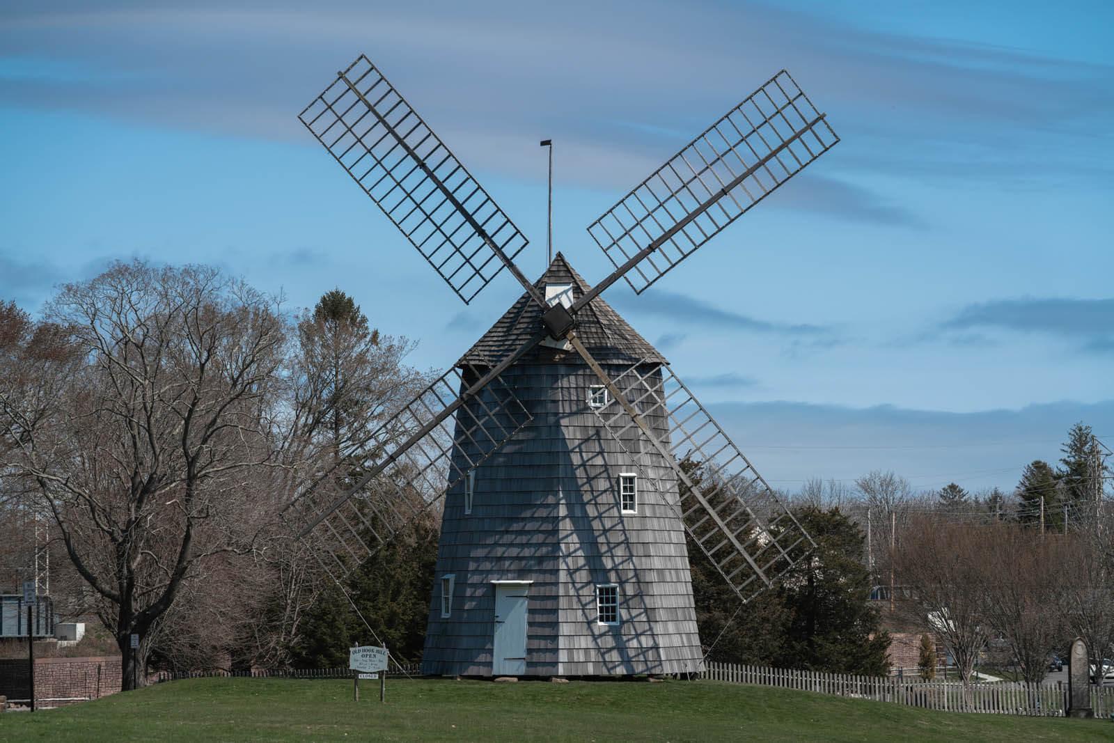 East Hampton windmill in the Hamptons New York