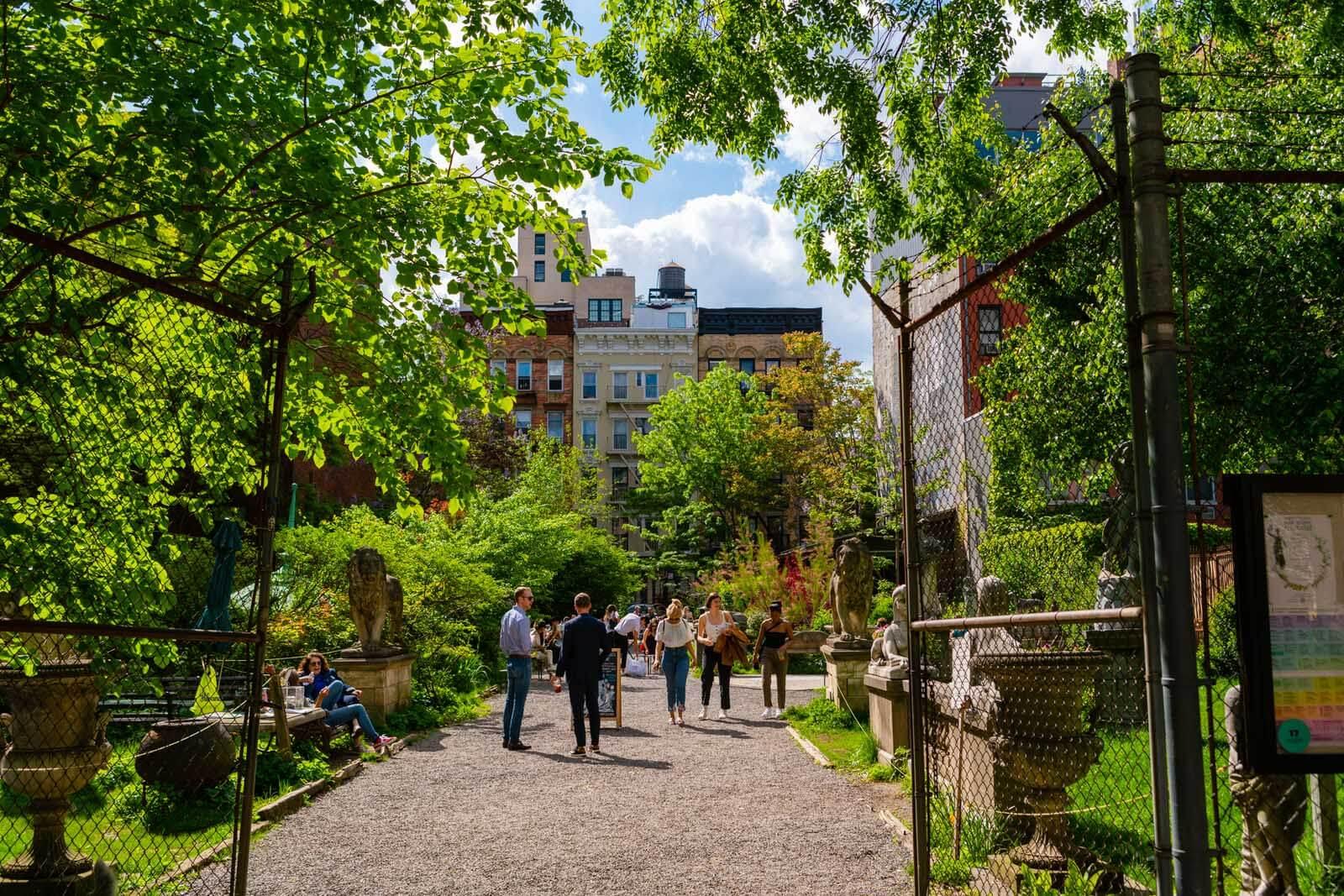 Elizabeth Street Garden in Nolita