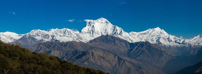 Pano of Annapurna Himalayas