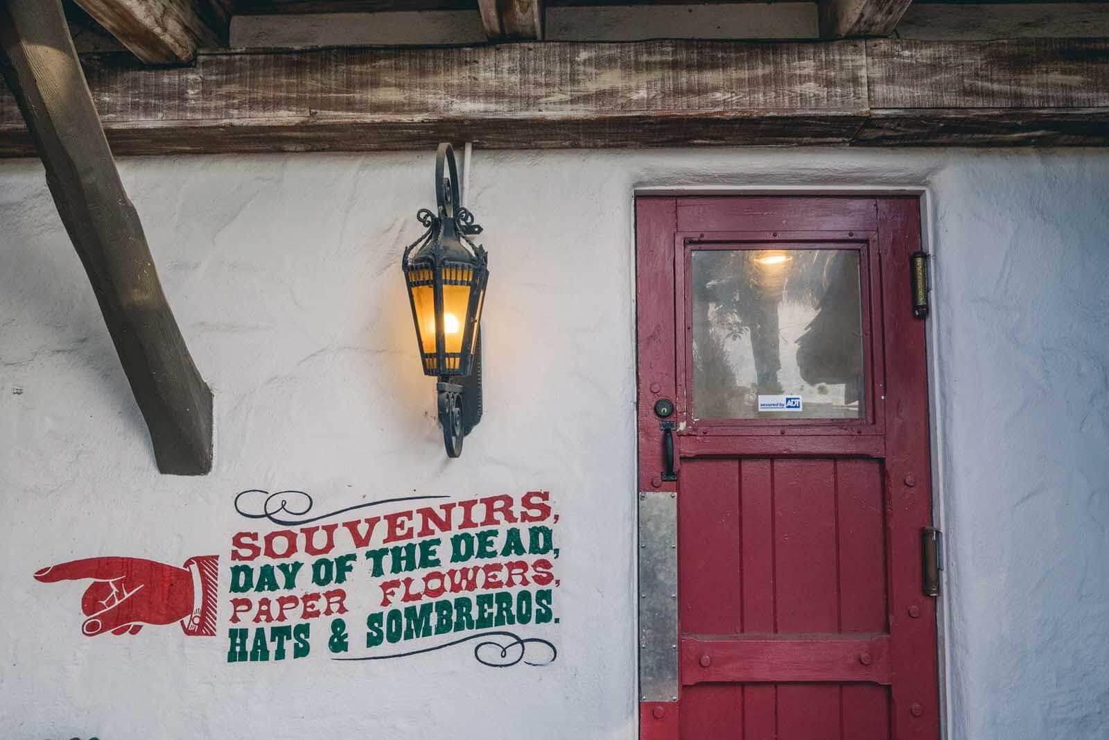 Fiesta de Reyes wall in Old Town San Diego