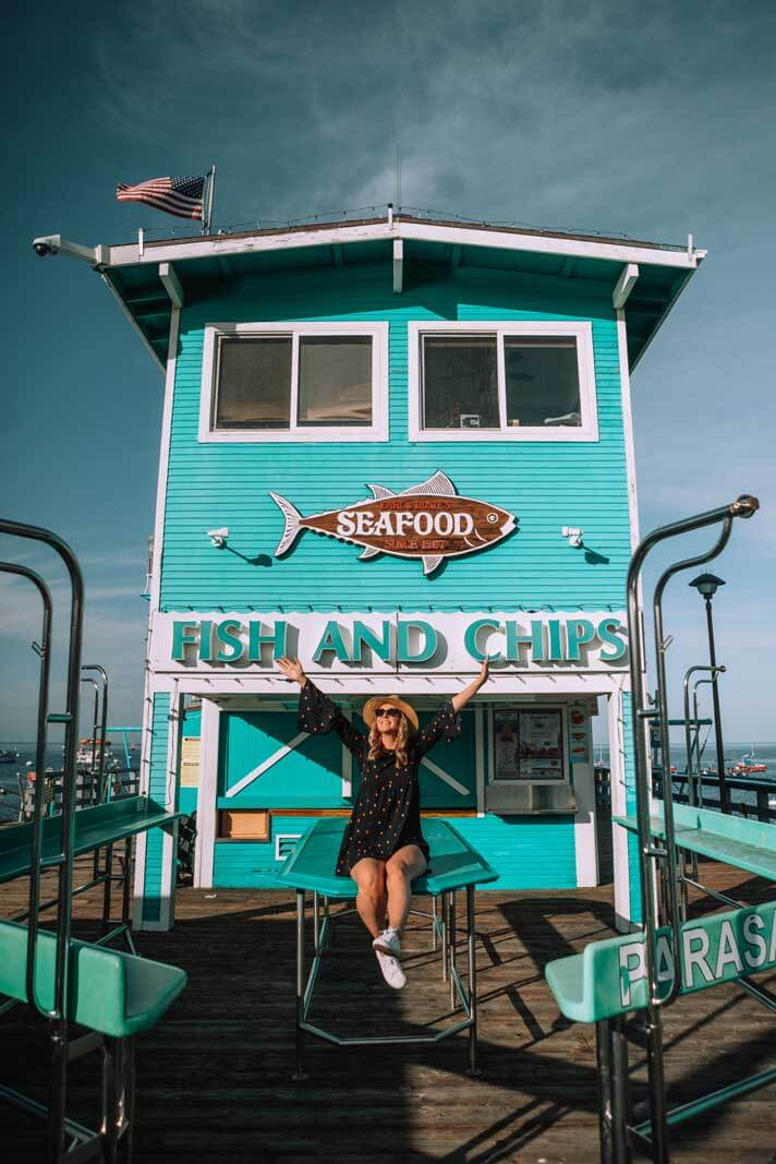 Fish & Chips shack on the pier in Avalon on Catalina Island California