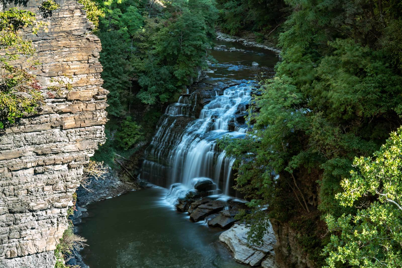 Forest Falls on Fall Creek in Ithaca New York