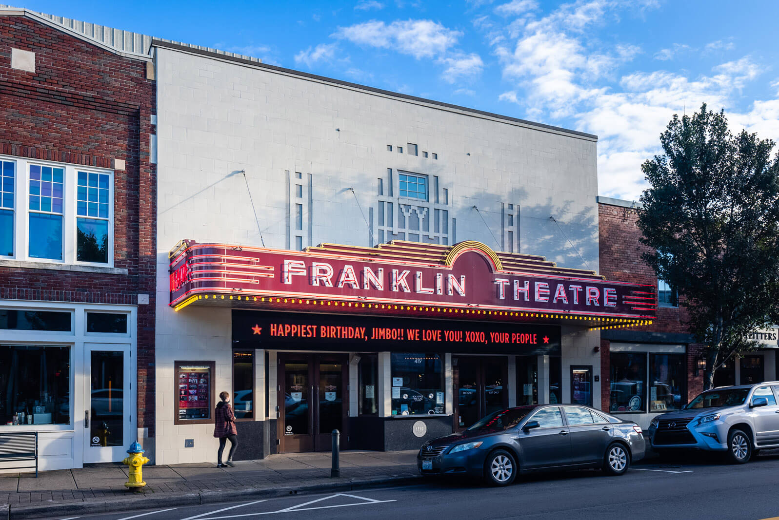 Franklin Theatre in downtown Franklin Tennessee